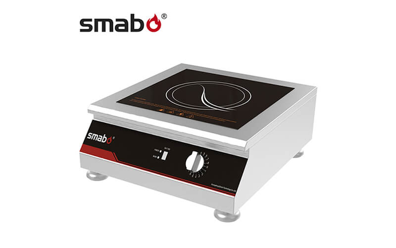 What is the radiation range of the induction cooker?