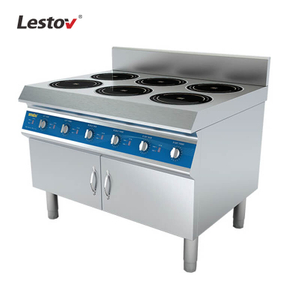 Six Burners Commerial Induction Range with Glass Ceramic