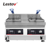 Deep Fryer Price Double Tank Countertop Induction Fryer for Restaurant