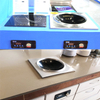 220v Push button Built-in Induction Wok Cooker with control panel