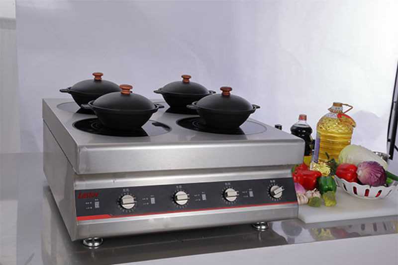 Why do commercial induction cookers need multiple protection?