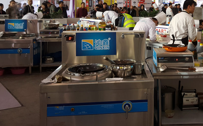 Single Commercial Induction Wok Burner with Stock Pot